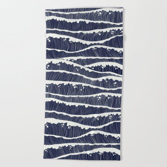 wavesss Beach Towel