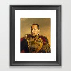 Dwayne (The Rock) Johnson - replaceface Framed Art Print