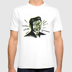 Typeface MEDIUM Mens Fitted Tee White