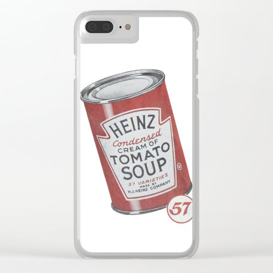 Heinz tomato soup can Clear iPhone Case