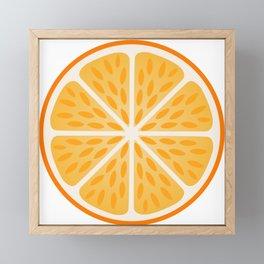 Orange slice with peel Framed Mini Art Print