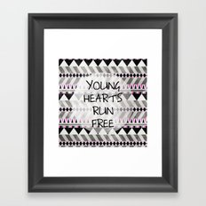 Young Hearts Framed Art Print