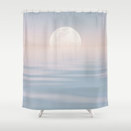 Moon Over Calm Waters Shower Curtain