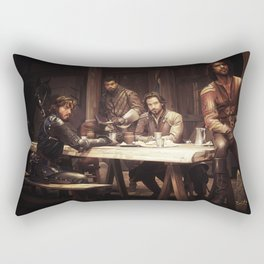 The Musketeers Rectangular Pillow