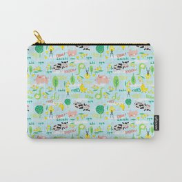 Cute Farm Animals- Baby Blue Carry-All Pouch