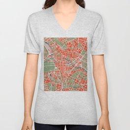 Berlin city map classic Unisex V-Neck