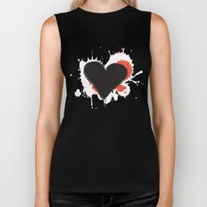I Heart Live Art II Biker Tank