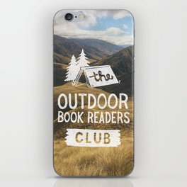 The Outdoor Book Readers Club iPhone Skin
