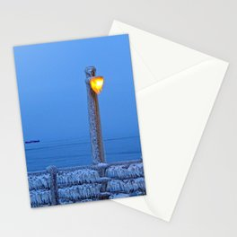 Frosted Light and Ship Stationery Cards