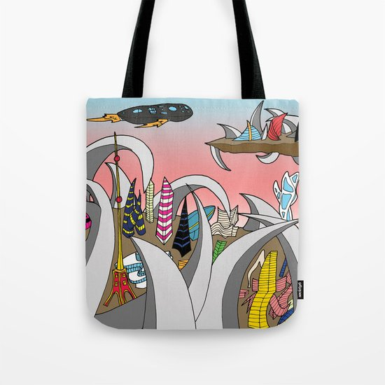 Alien City Tote Bag