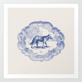 DelftWare Wolf Art Print