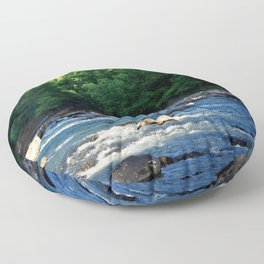 A Creek and Forest in West Virginia  Floor Pillow