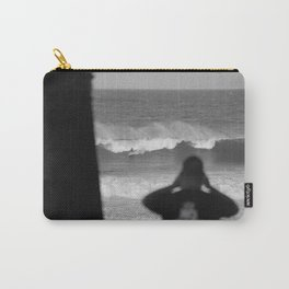 Massive wave with surfer Carry-All Pouch
