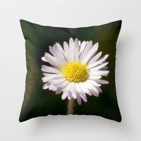 daisy Throw Pillows featuring Daisy by Lori Anne Photography