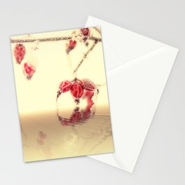 Winter time with red rosehips Stationery Cards