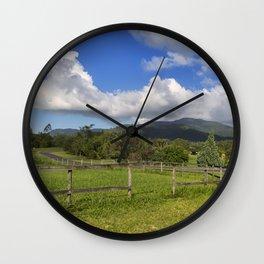 Idyllic rural view Wall Clock