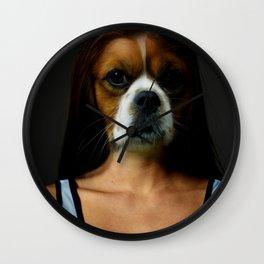 DogWoman #society6 #decor #buyart #artprint Wall Clock