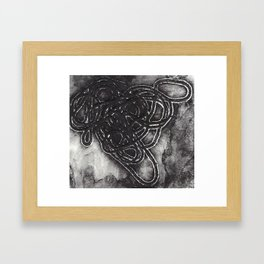 Yarn Collagraph Framed Art Print