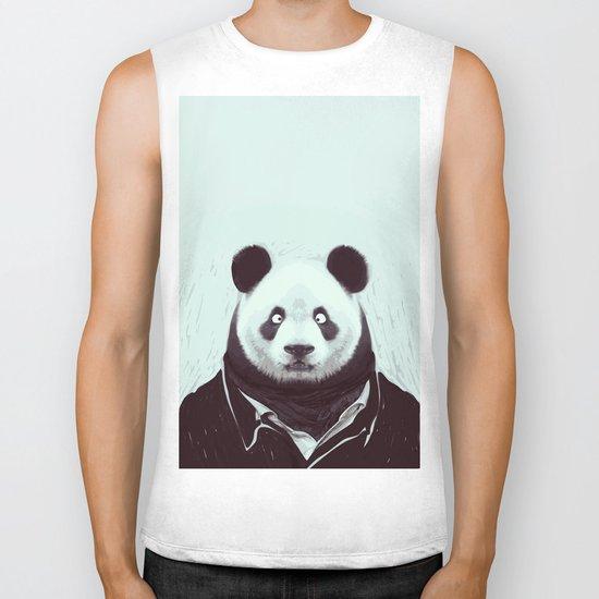 Panda googly eyes Biker Tank