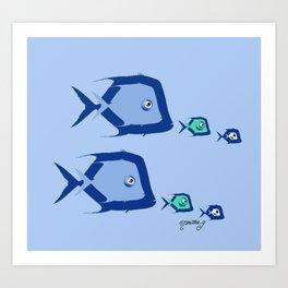 Piranhas 1 Art Print