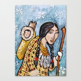 Snow Papoose * Nature Maiden Canvas Print