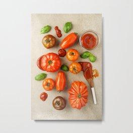 Tomatoes for tomato ketchup Metal Print
