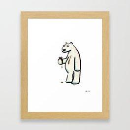 Coffee Polar Bear Framed Art Print