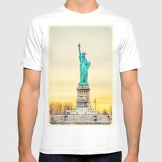 Statue of Liberty Mens Fitted Tee White MEDIUM