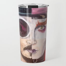 Four Faces of Johnny Depp Travel Mug