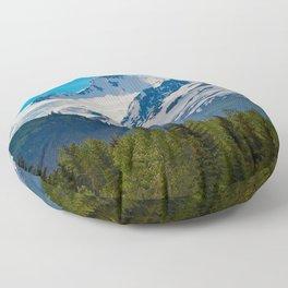 Bear_Creek Mountain Glacier - Alaska Floor Pillow