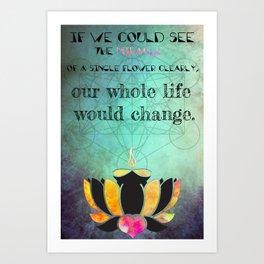 Zen Art Inspirational Buddha Quotes  Art Print