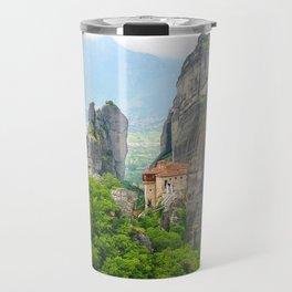 Christian Orthodox monastery of Meteora, Greece Travel Mug