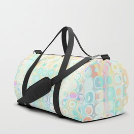 Sunday Morning Pastel Fractal Pattern Duffle Bag