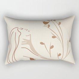 Abstract Woman Rectangular Pillow