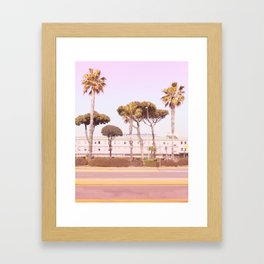 Urban Summer and Palms Framed Art Print
