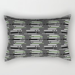 Technology Agender Pride Abstract stripe Pattern Rectangular Pillow