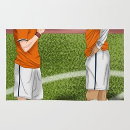 Connor and Mitchell soccer match Rug