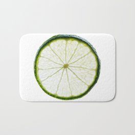 slice of lime Bath Mat