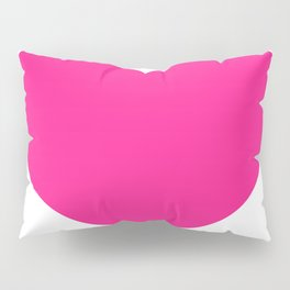 Heart (Dark Pink & White) Pillow Sham
