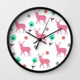 Deer story Wall Clock