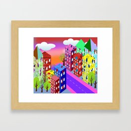 Abstract Urban By Day Framed Art Print