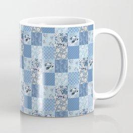 Blue Floral Patchwork Coffee Mug