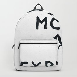 Explore More Quote Black and White Backpack