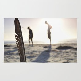 Feather on the Beach Rug