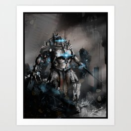 Dark Cyborg  Art Print