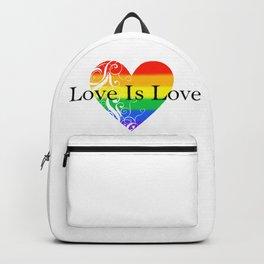 Love Is Love Rainbow Pride Heart 4 Backpack