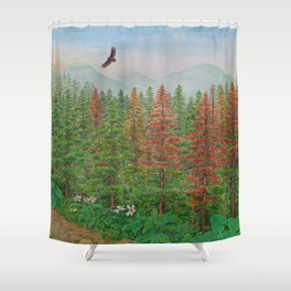 A Day of Forest(8). (coniferous forest) Shower Curtain