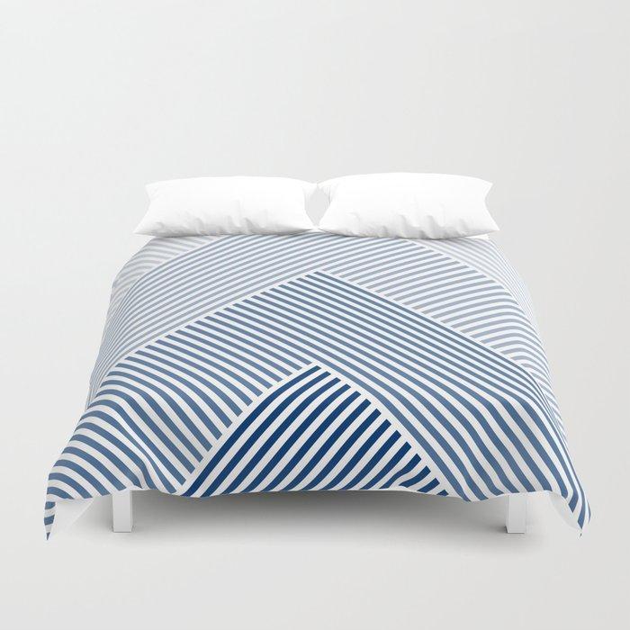 Shades of Blue Abstract geometric pattern Bettbezug