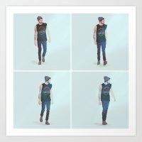 zayn malik Art Prints featuring zayn malik by Ana Rocha