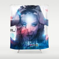 america Shower Curtains featuring America  by LC_Korim